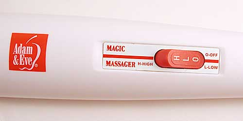 The Adam & Eve Massaging Vibrator is lightweight.